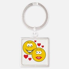smiley58 Square Keychain