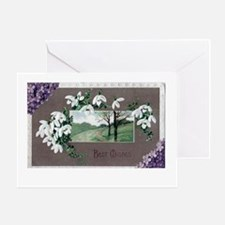 Best Wishes Violets Greeting Card