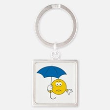 smiley11 Square Keychain