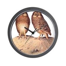 vintage owls Wall Clock