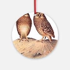 vintage owls Round Ornament