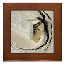 My Angel of Power by Lin Masters Framed Tile