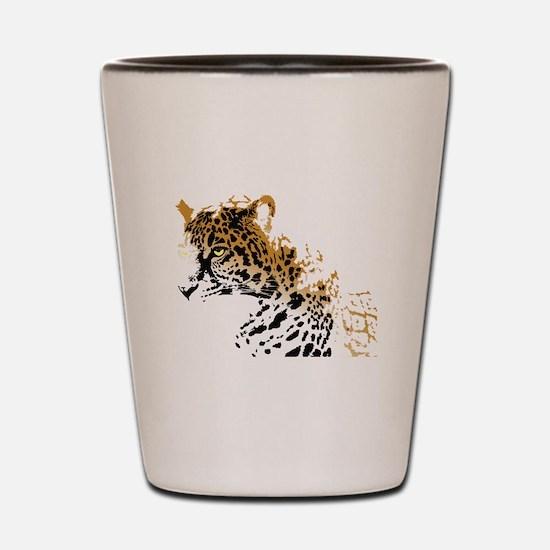 Jaguar Big Cat Shot Glass