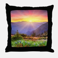 Majestic Sunset Throw Pillow