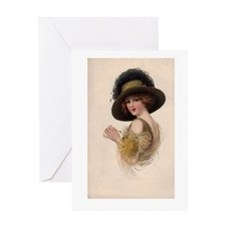 Gibson Girl Blank Card Greeting Card