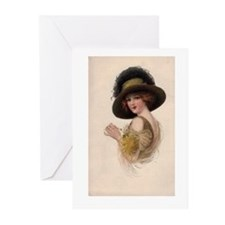 Gibson Girl Blank Card Greeting Cards (Pk of 10)