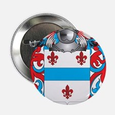 """Leicester Coat of Arms - Family Crest 2.25"""" Button"""