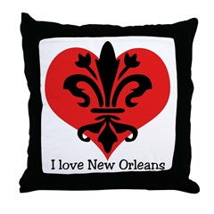 I 'heart' New Orleans Throw Pillow