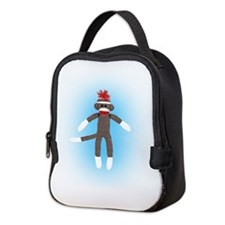 Awesome Sock Monkey Neoprene Lunch Bag