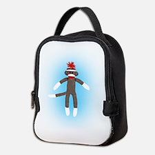 Awesome Sock Monkey Neoprene Lunch Bag