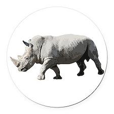 Rhinoceros - Rhino Round Car Magnet