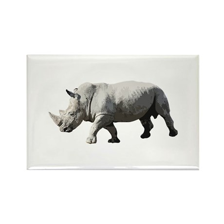 Rhinoceros - Rhino Rectangle Magnet