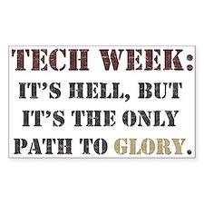 Tech Week Rectangle Decal