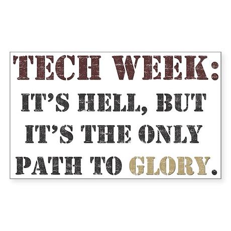 Tech Week Rectangle Sticker