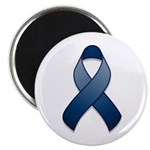 "Dark Blue Awareness Ribbon 2.25"" Magnet (100 pack)"