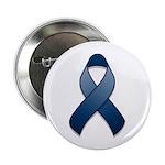 """Dark Blue Awareness Ribbon 2.25"""" Button (10 pack)"""
