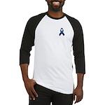Dark Blue Awareness Ribbon Baseball Jersey