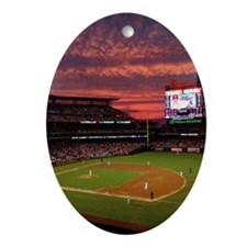 Phillies Night Oval Ornament