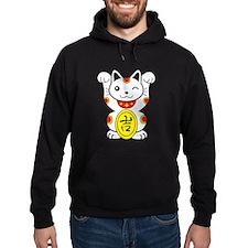 Maneki neko Lucky Cat Hoodie