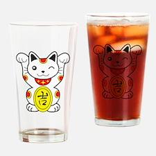 Maneki neko Lucky Cat Drinking Glass