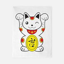 Maneki neko Lucky Cat Twin Duvet
