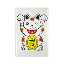 Maneki neko Lucky Cat Rectangle Magnet