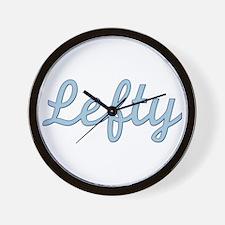 Lefty (Purple) Wall Clock