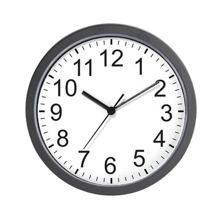 Large Numbers Wall Clock By Clockplanet