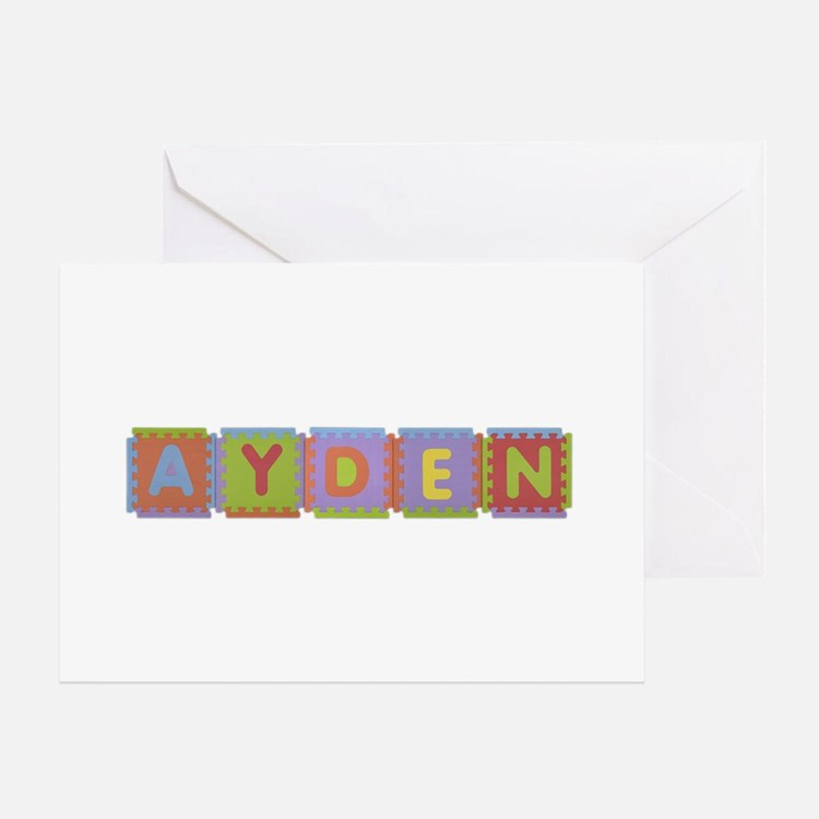 Ayden Foam Squares Greeting Card