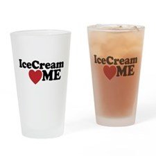 Ice Cream Loves Me Drinking Glass