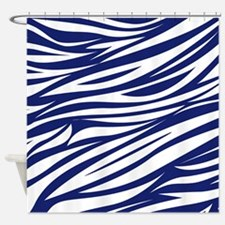 African Safari Blue Shower Curtain