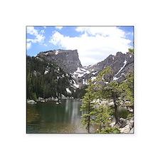 """Dream Lake, Colorado Square Sticker 3"""" x 3"""""""