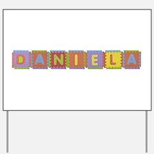 Daniela Foam Squares Yard Sign
