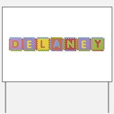 Delaney Foam Squares Yard Sign