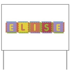 Elise Foam Squares Yard Sign
