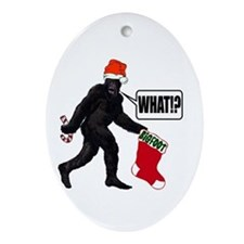 WHAT! Bigfoot - Big Stocking! Oval Ornament