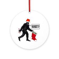 WHAT! Bigfoot - Big Stocking! Ornament (Round)