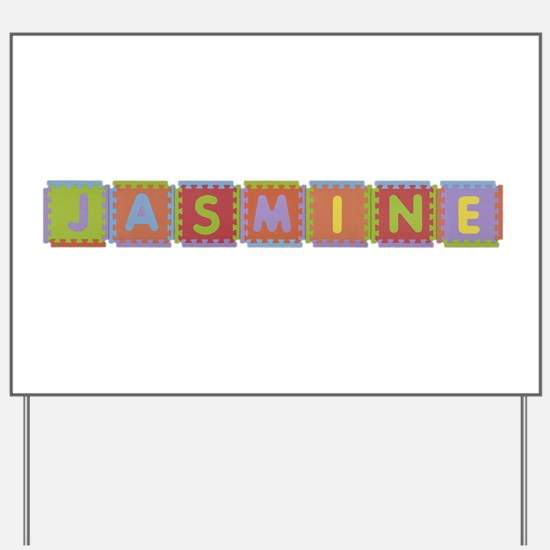 Jasmine Foam Squares Yard Sign