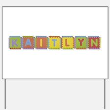 Kaitlyn Foam Squares Yard Sign