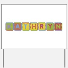Kathryn Foam Squares Yard Sign