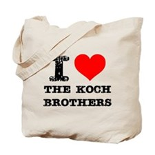 I Love The Koch Brothers Tote Bag