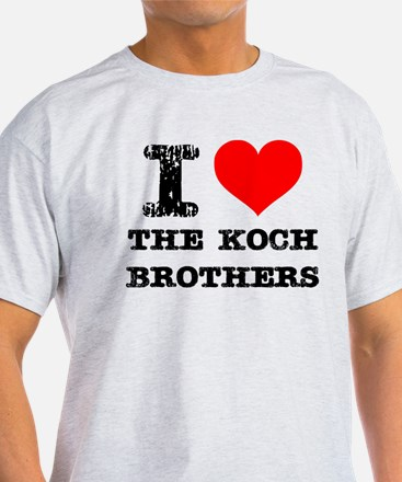 I Love The Koch Brothers T-Shirt