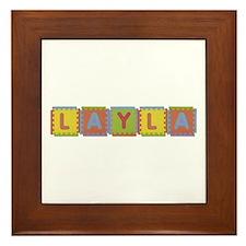 Layla Foam Squares Framed Tile