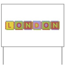 London Foam Squares Yard Sign