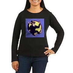 El Mono Women's Long Sleeve Dark T-Shirt