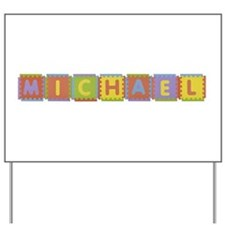 Michael Foam Squares Yard Sign