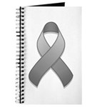 Gray Awareness Ribbon Journal