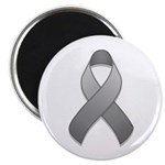 Gray Awareness Ribbon Magnet