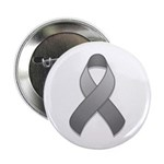 "Gray Awareness Ribbon 2.25"" Button (10 pack)"