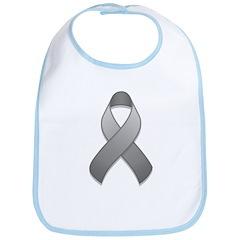 Gray Awareness Ribbon Bib